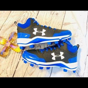 NEW Under Armour Heater MID TPU Black Cleats